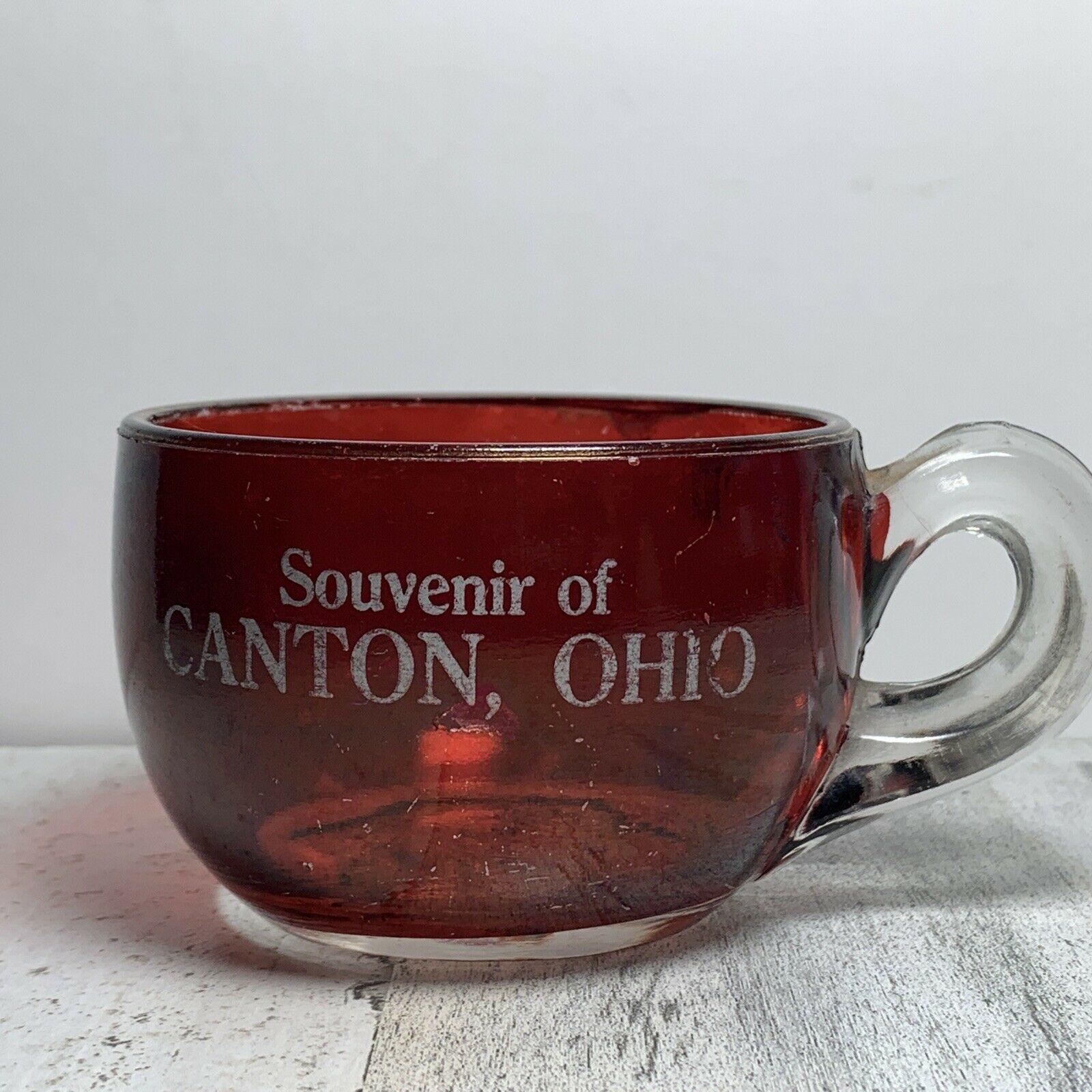 Vintage Ruby Red Canton Ohio Punch Cup - $11.88