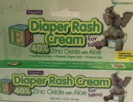 Natureplex Diaper Rash Cream 1.5 oz Infant Babies Aloe Hypoallergenic - $2.85