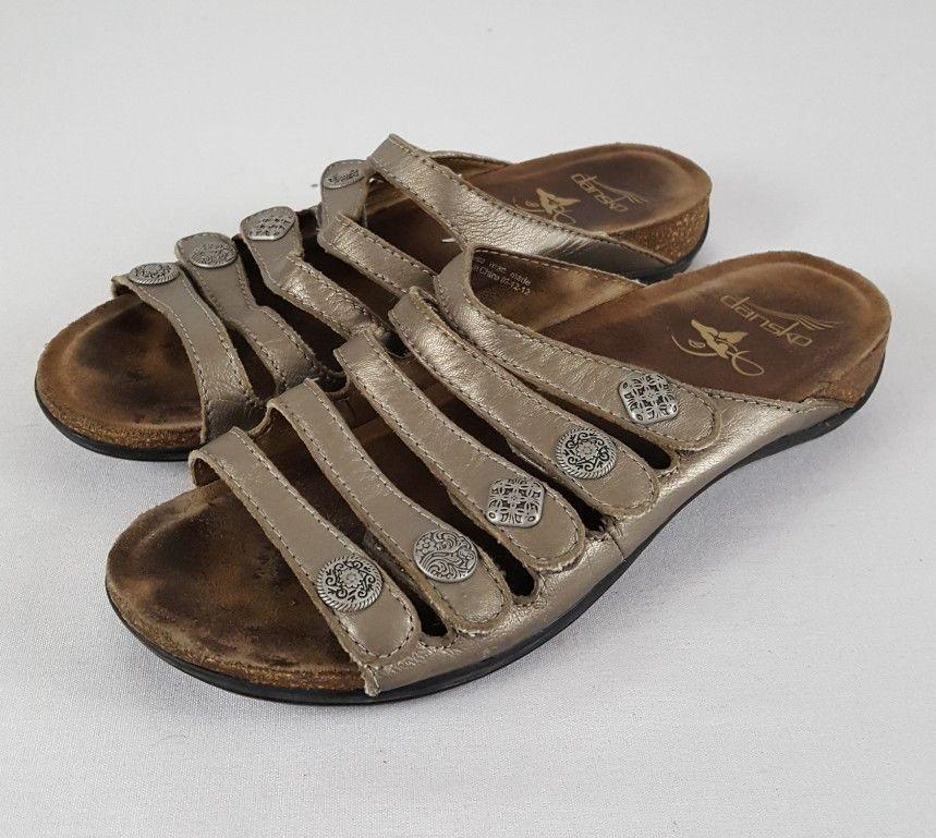 1ad3276ab8f4 DANSKO Womens Janie Pewter Metallic Sandal and 50 similar items. S l1600