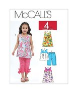 McCall's Patterns M6060 Toddlers'/Children's Tops, Dresses and Capri Pan... - $2.92