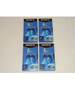 Sony 6 Hour Blank VHS Tapes Lot of 4 (out of a 5 Pack) T120 120-Minute V... - $14.99