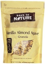 Back to Nature Gluten Free, Non-GMO Vanilla Almond Agave Granola, 11 Ounce