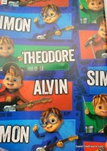 ALVIN And The CHIPMUNKS Wrapping Paper Gift Book Cover Party Wrap PARTY ... - $19.75