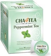 Cha4TEA 36-Count Peppermint Tea K Cups for Keurig K-Cup - $15.48