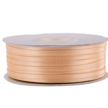 """1/8"""" X 100 Yard Peach Double Faced Satin Ribbon Art Sewing Party Favor - $7.24"""