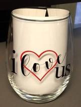 Stemless Wineglass, I Love Us, Valentine gift ideaa - $13.50