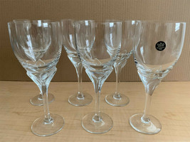 Vintage ROSENTHAL Crystal Wine Glasses Iris Satin Stem 6 oz Set of 6 - $193.05