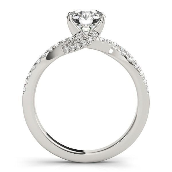 14k White Gold Fancy Prong Split Shank Diamond Engagement Ring (1 1/4 cttw)