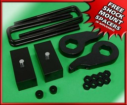 "3"" Lift Kit Billet Blocks + Steel Keys 00-10 Silverado Sierra 2500 3500 ... - $139.99"