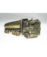 Vintage Long Semi Truck Belt Buckle Brass Colored C1911 - $30.87