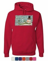 Let It Snow Merry Christmas Hoodie Jingle Bells Snowman Holiday Sweatshirt - $23.98+