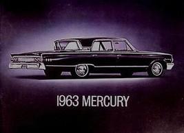 1963 Mercury Dlx Color Brochure Monterey Custom S-55 - $14.11