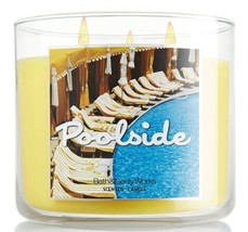 Bath and Body Works Poolside Three Wick Scented Candle 14.5 Oz - $100.00