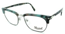 Persol RX Eyeglasses Frames 3196 V 1070 53-19 Azure Tortoise Tailoring Edition - $120.54