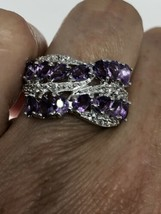 Vintage Amethyst Ring 925 Sterling Silver Size 7 - $133.65