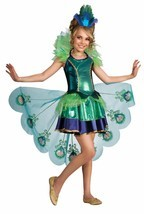 Child Peacock Animal Majestic Halloween Feathers Kids Cosplay Costume 887098 - $26.19