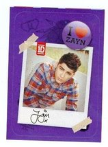 Zayn Malik sticker trading card (One Direction 1D) 2013 Panini #3 - $4.00