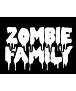 ZOMBIE FAMILY Horror Walking Dead Vinyl Decal hi quality CHOOSE SIZE COLOR - $2.60+