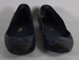 Chanel Womens Navy Quilted Leather Flats 36 Italy - $287.10