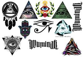 Illuminati  Temporary Tattoos  - $11.00