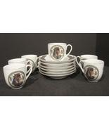 Fathi Mahmoud  Hieroglyphic  Porcelain Sculpture Demitasse Set for 6 ~Eg... - $65.90