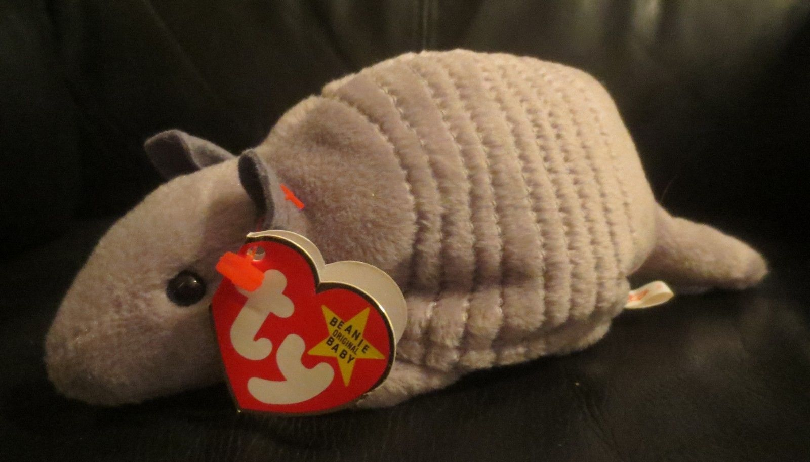 Ty Beanie Baby Tank the Armadillo 4th Generation PVC Filled