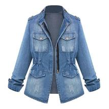 Women's Vintage European Style Trendy Denim Jacket image 3