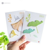60 Sheets Leaves Memo Pad Kawaii Stationery Office Supplies Diy School S... - $2.07