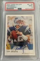 2002 TOPPS GALLERY TOM BRADY ON CARD AUTO SP! PSA 9 W/ HOLO - $2,969.99