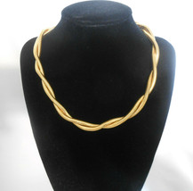 Yves Saint Laurent Vintage Twisted Snake Chain Necklace Choker - $118.75