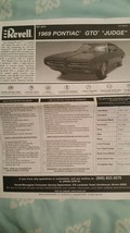 "Revell Kit 2072 1969 Pontiac GTO ""Judge"" Instructions Only - $5.93"