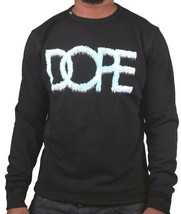 Dope Couture Mens Black Sub-Zero Ice Cold Fleece Crewneck Sweatshirt Sweater NWT