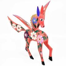 Handmade Alebrijes Oaxacan Wood Carving Painted Folk Art Pegasus Large Figure image 2