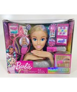 Barbie Glitter Hair Deluxe Styling Head Unicorn *Pink, Blue & Blonde* BRAND NEW - $22.77