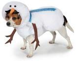 Mustache Snowman Dog Costume