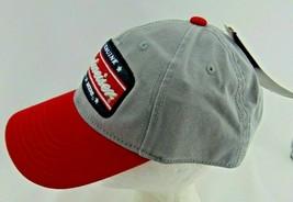 Budweiser Men's Vintage Distressed Genuine King of Beers Snapback Hat Cap Gray image 2