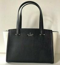 New Kate Spade small Geraldine Patterson Drive Satchel Leather Black / C... - $170.92 CAD