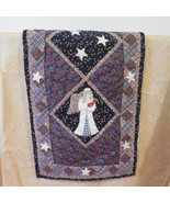 Quilted Christmas Angel Table Runner / Angel Tablerunner / dresser scarf... - $25.00