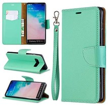 XYX Phone Case for Samsung Galaxy S10+ Plus,[Wrist Strap] Litchi Pattern... - $9.88