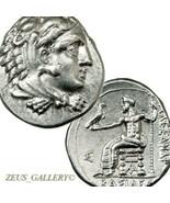 Alexander Del Gran Dracma Raro Con Baσiλeως Herakles Antiguo Griego Plat... - $535.47