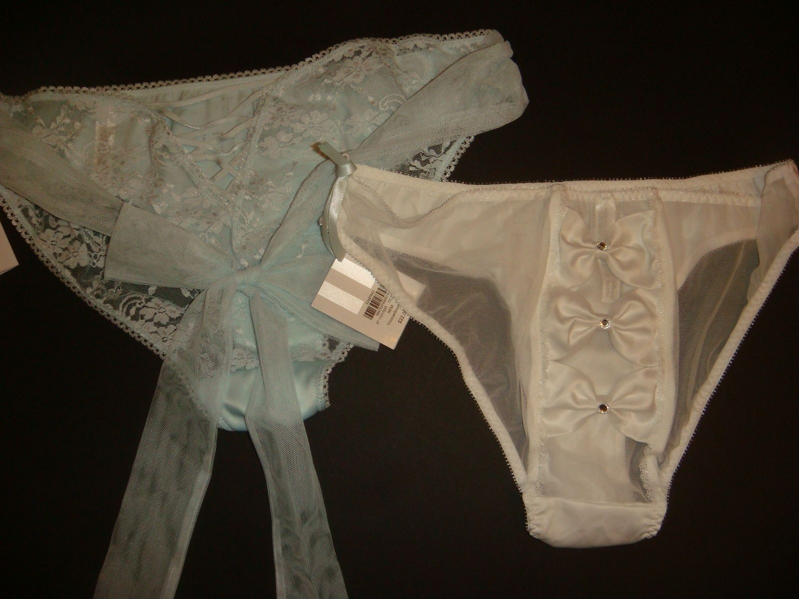 b67396475a29 Victoria's Secret M BABYDOLL+panty crystallized BLUE white Just married  BRIDAL