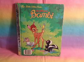 Vintage 1984 Disney's Bambi A Little Golden Book - name written on inside - $3.91
