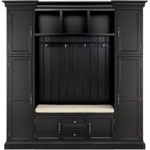 Hall Tree Furniture 79.25 in. W 2-Drawer 2-Door Adjustable Shelves Wood Black - $1,500.19