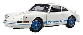 AUTOart Porsche 911 Carrera RS 2.7 1973 White Blue Stripes Diecast Car 1:18 - $156.55