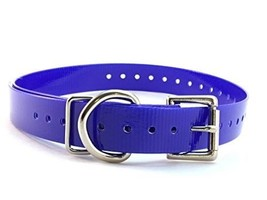 "Sparky PetCo 1"" Roller Buckle High Flex Blue Waterproof Dog Strap For Ga... - $15.29"