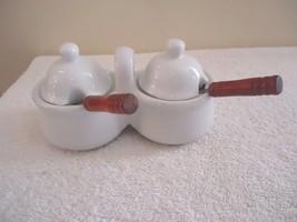 "Vintage Ceramic Cream & Sugar Set With Spoons "" BEAUTIFUL COLLECTIBLE SET "" - $20.56"