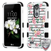 Pink Fresh Roses/Black TUFF Hybrid Phone Cover for LG Tribute Empire/Ari... - $12.23