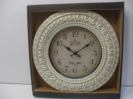 White Battery Powered 12 Inch Clock Wall Mounted  Plastic Frame  - $14.98