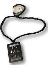 Black Lives Matter Afrocentric Beaded Necklace (Black) - $19.79