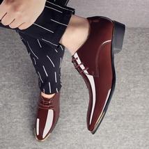 Zapatos Size Quality Men's Leather 47 Patent de Shoes Black Newly 38 2018 hombre YU5Ezwqxz